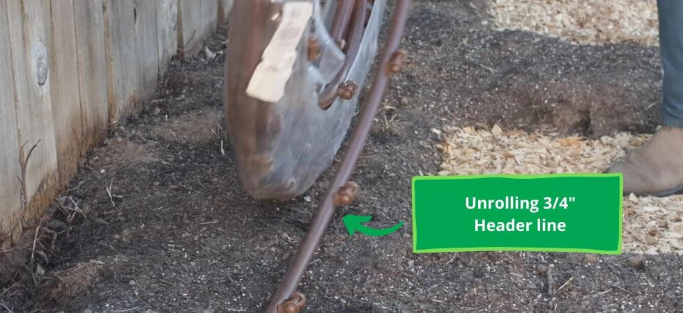 Urolling the header line for DIY Greenhouse drip Igrriation system